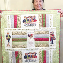 Janice Martin-Geyer gifted with a quilted piece