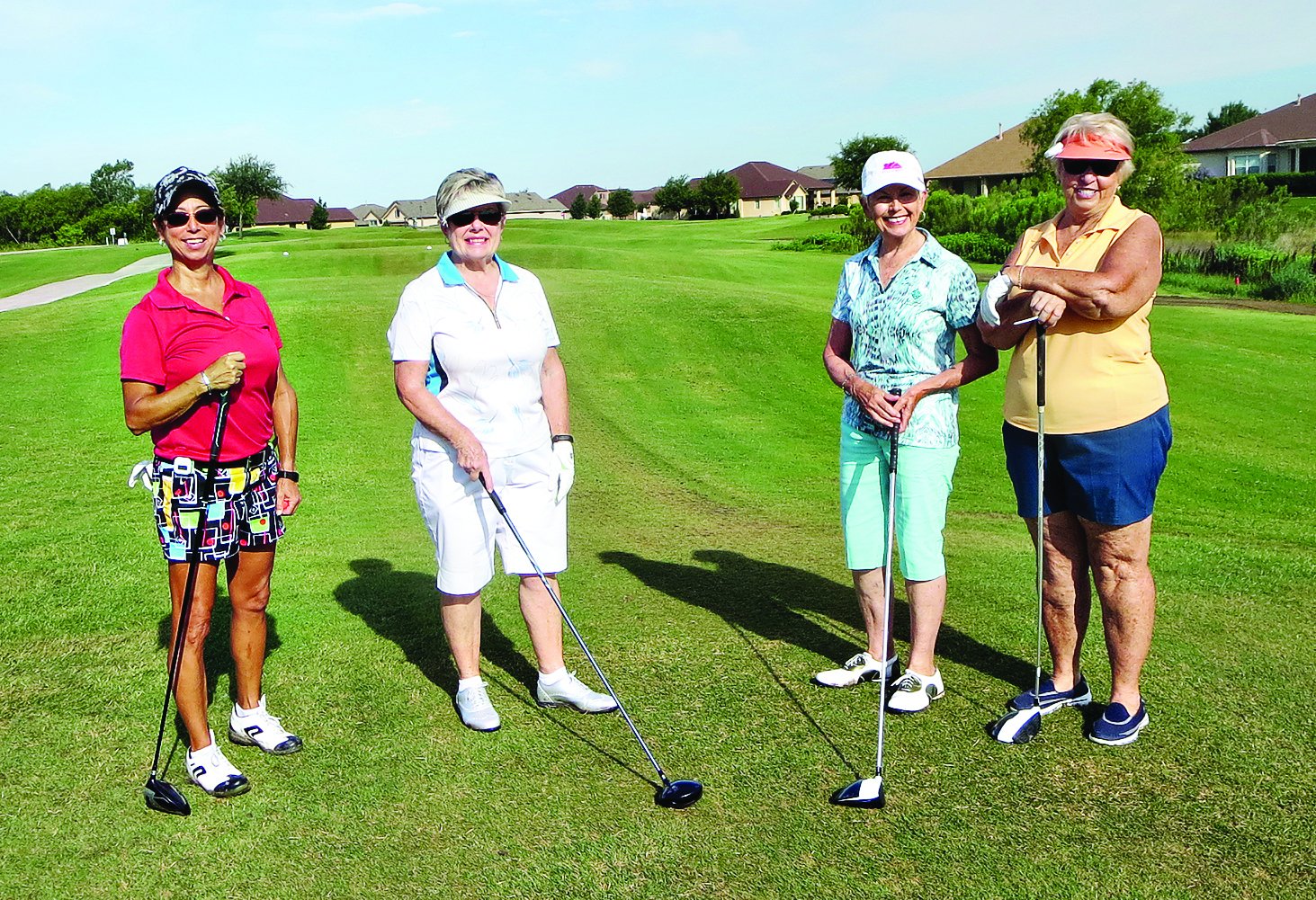 Left to right: Ana Corey, Maureen Lehrer, Linda Knightly, and Pam Kanawyer