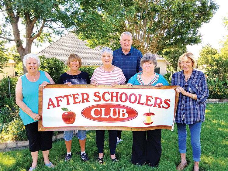 New officers: Marti Conley, Nancy Burns, Sheryl Cook, Bob Cook, Judy Riffel-Karr, and Lois Mitchell