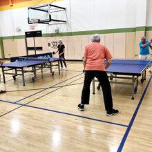Singles play at Robson Ranch Table Tennis Club