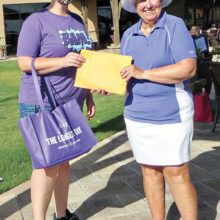 Brooke Boatright, Alzheimer's Assn. and Alice Wright