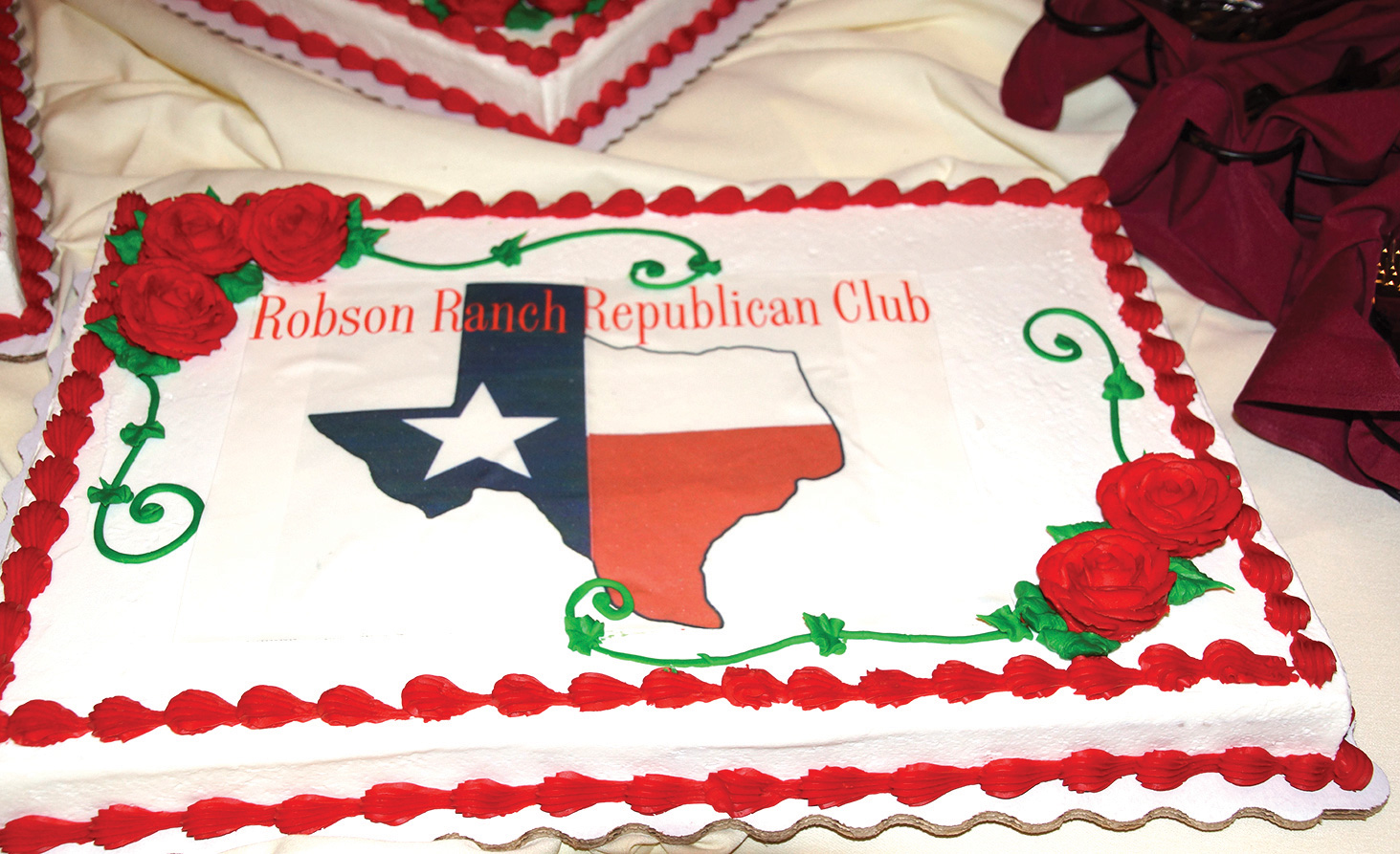 A lovely cake enjoyed by all that evening (Photo provided by RRRC member Dick Remski)