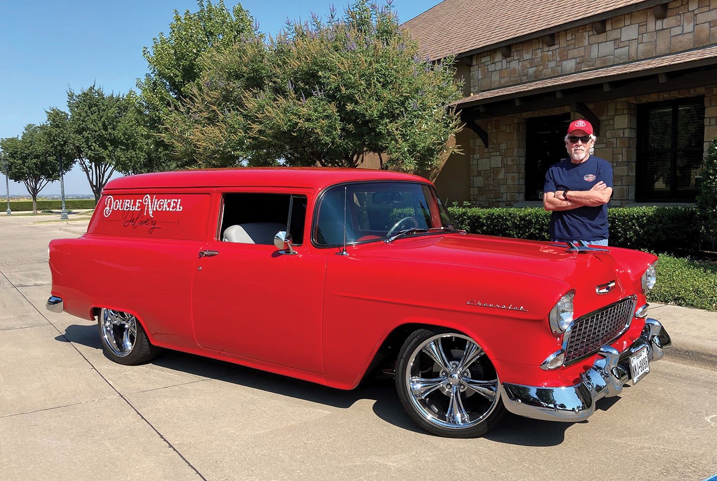 Ricke Rubin with his 1955 Chevrolet Sedan Delivery