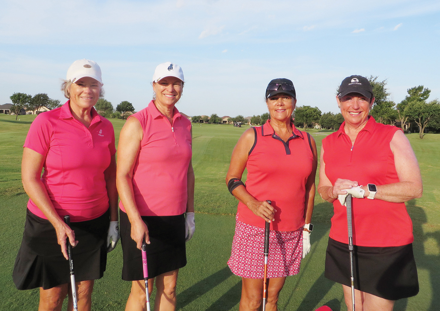 Lee Murphy and Barb Bettiga with Marlene Womack and Ann Brehm (1st Flight Winners)