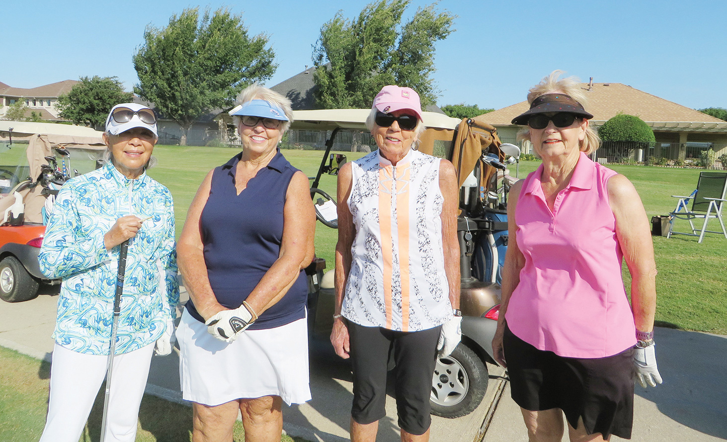 Ryoko Stevlingson and Pam Kanawyer (3rd Flight Winners) with Connie Mullins and Ruth Bowen