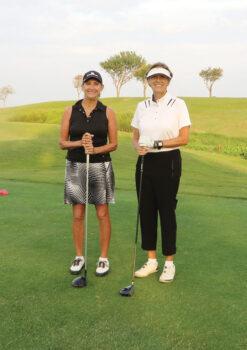 Gale Hicks and Sheri Watkins, First Flight winners