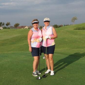 Nancy Freisheim and Althea Parent, Second Flight winners
