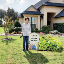 September's Yard of the Month was the home of Bill and Avanell Patton