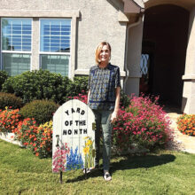 The Yard of the Month for October is the home of Ken and Linda Lilley