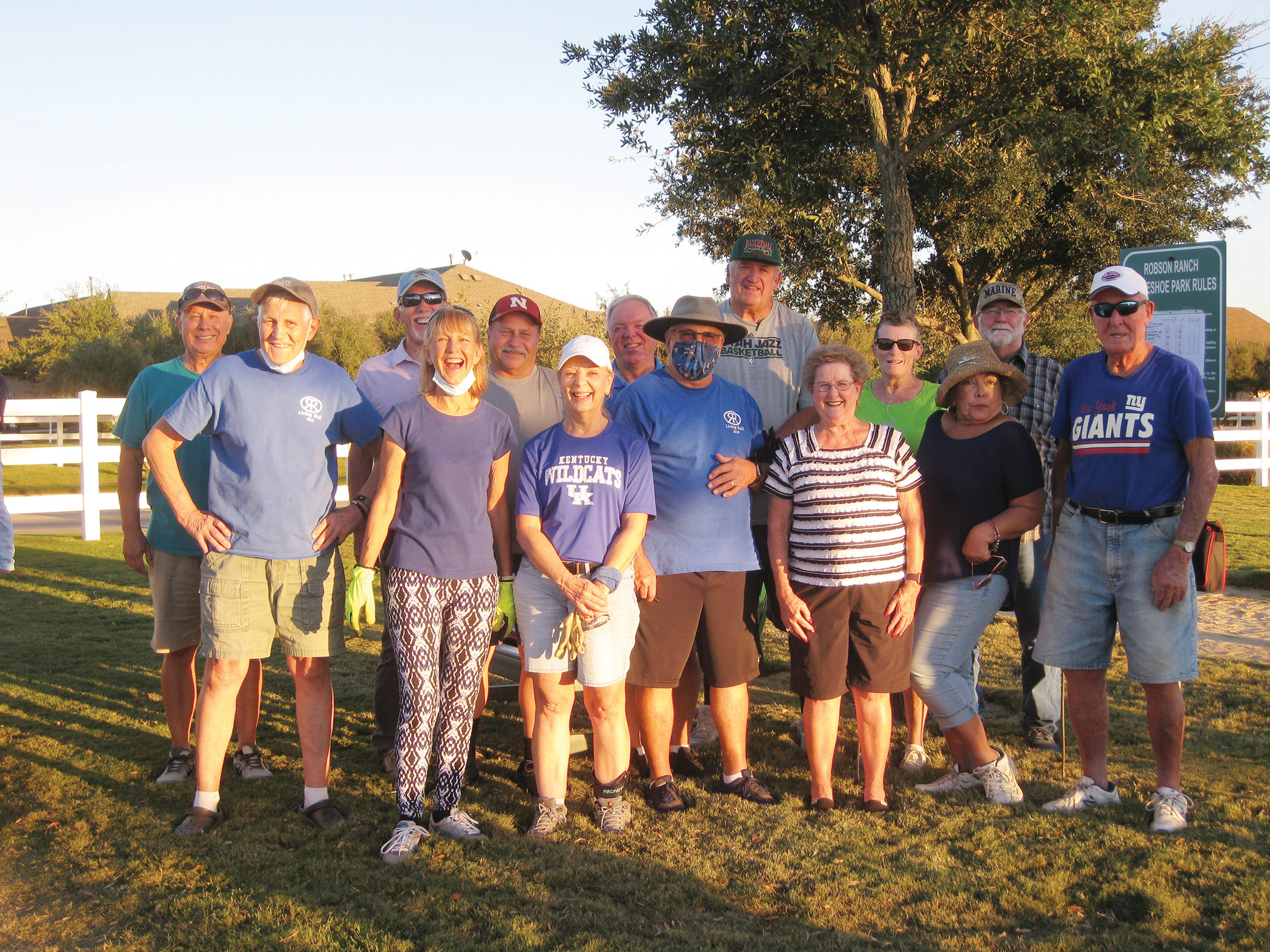 Participants in horseshoe tourney