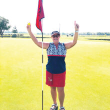 Cindy Sterling gets a hole-in-one!