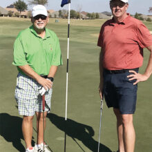 White Tee Championship: Doyle Hicks (left) and Ed Dorman