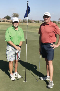 White Tee Championship: Doyle Hicks (left) and Ed Dorman