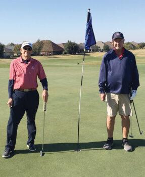 Gold Tee Championship: Scott Lancaster (left) and Leroy Schuetts