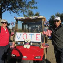 Best Cart Decoration: Althea and Rick Parent