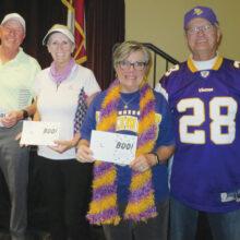 First place winners 2nd Flight: John Gauthier and Jayne Gornik, Maureen and Ron Lehrer
