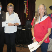 First place winners 3rd Flight: Gil and Sallye Ortiz, Yvonne and Paul Callaway