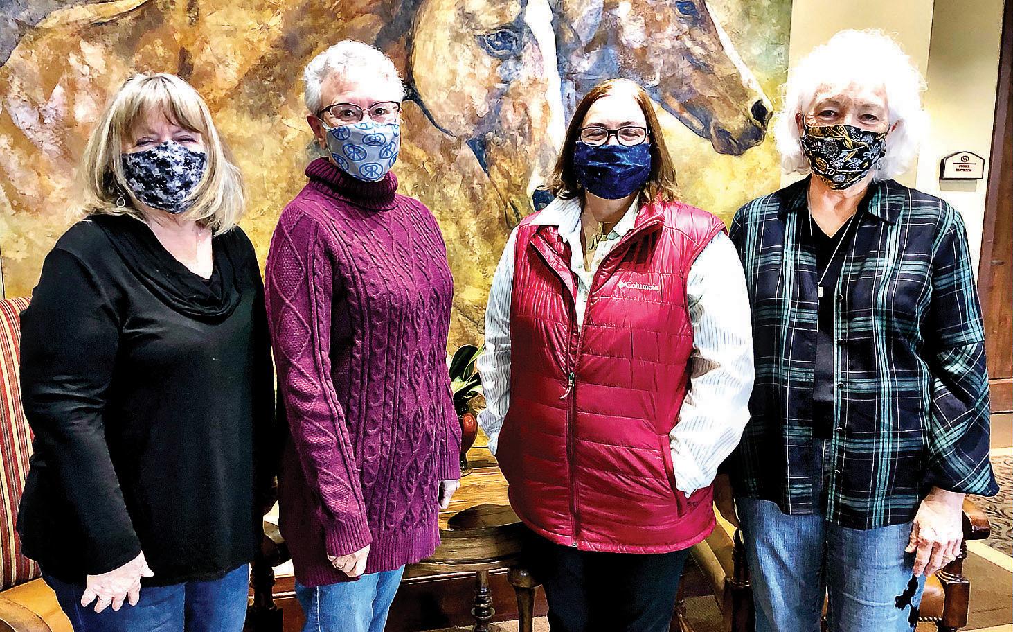 Deb Williams, Sandra Waggoner, Megan Wiegand, and Paula Saunders
