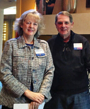 Membership Chair Dolores Kearney presented at the new member orientation with thanks from Steve Slabaugh.