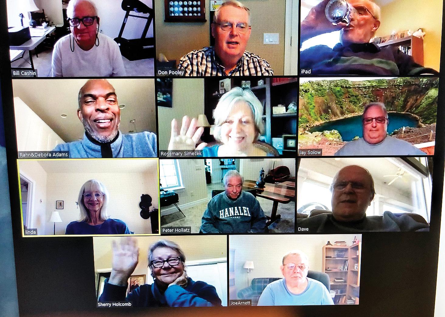 Members Zooming on Jan. 26, 2021