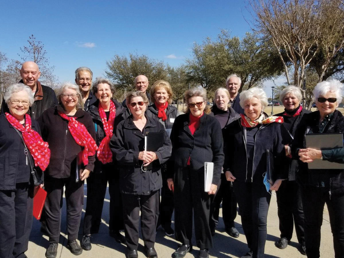 Front (left to right): Mike Simms, Bill Hackley, Jeff Miller, and Bob Wilking. Middle row: Suzanne Horne, Ann Madigan, Anita Thedford, Carol Heine, and Mary Fabian. Front row: Melba Beckham, Martha Gills, Barbara Leurig, Barb Wiking, and Linda Smith. Not pictured: Chris Dugdale and Fran Hackley