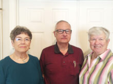 Sue Russell, Eddie Bigler, and Alice Wright