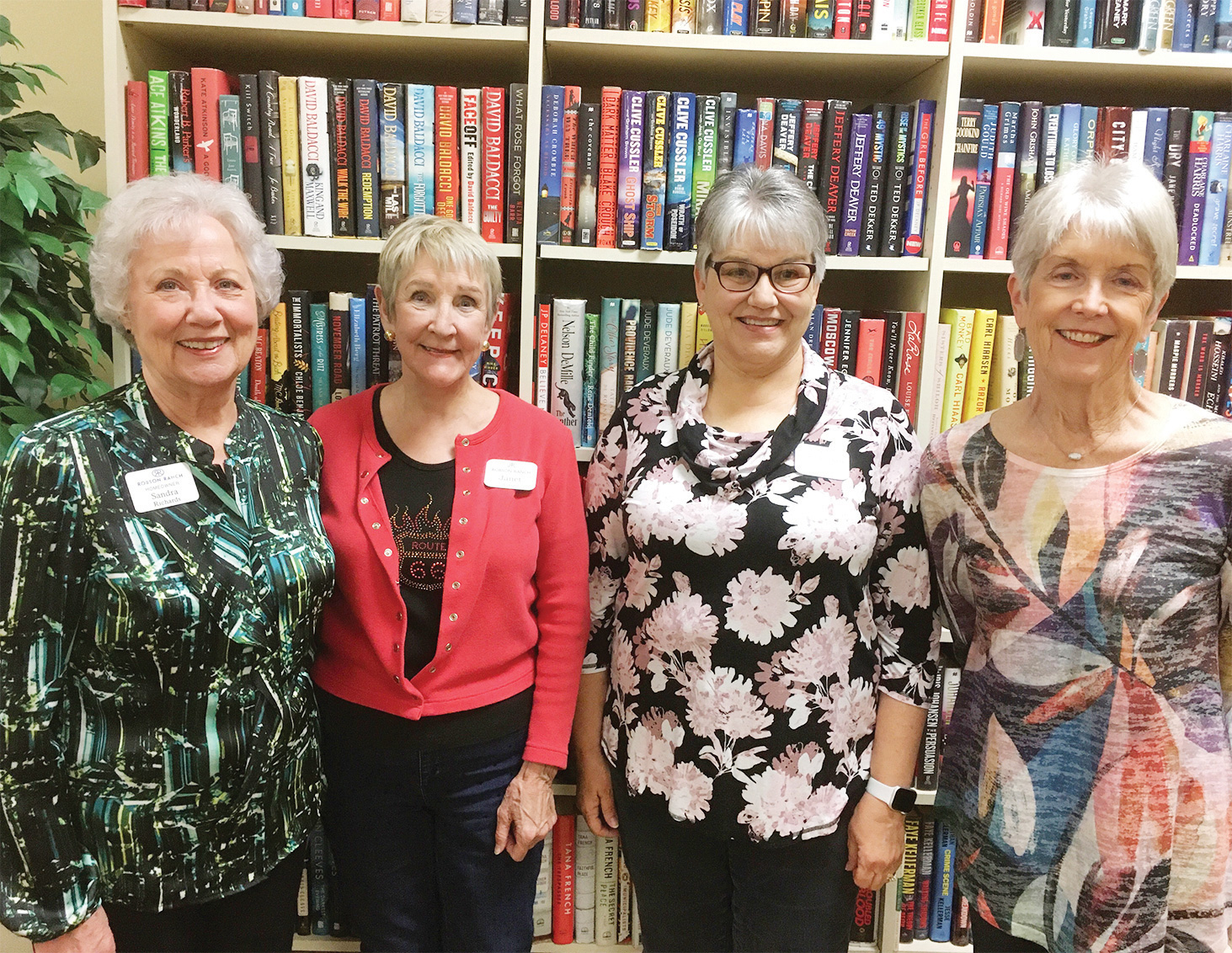 Four of Monday's volunteers (left to right): Sandra Richards, Janet Carr, Julie Gronneberg, and Marsha Scholze