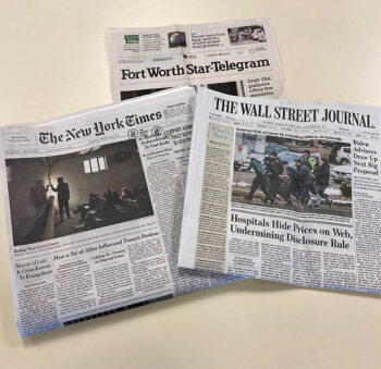 Newspapers and the library