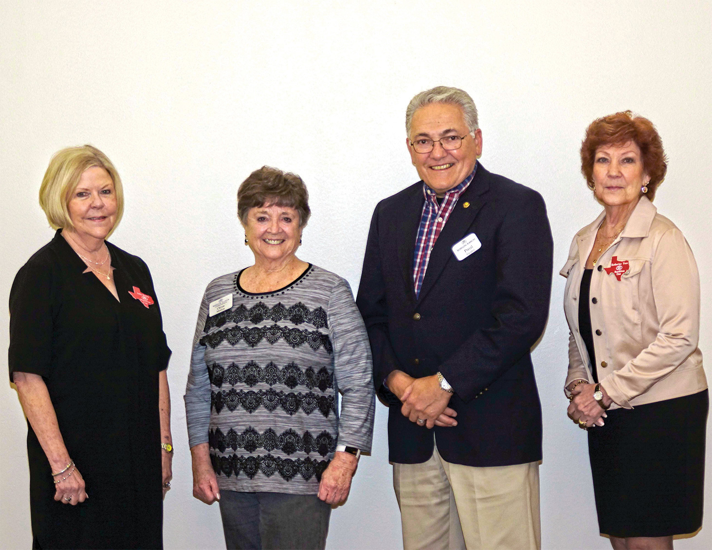 From left to right: Julie Bailey, Olive Morton, Paul Vicalvi, and Katherine Vess