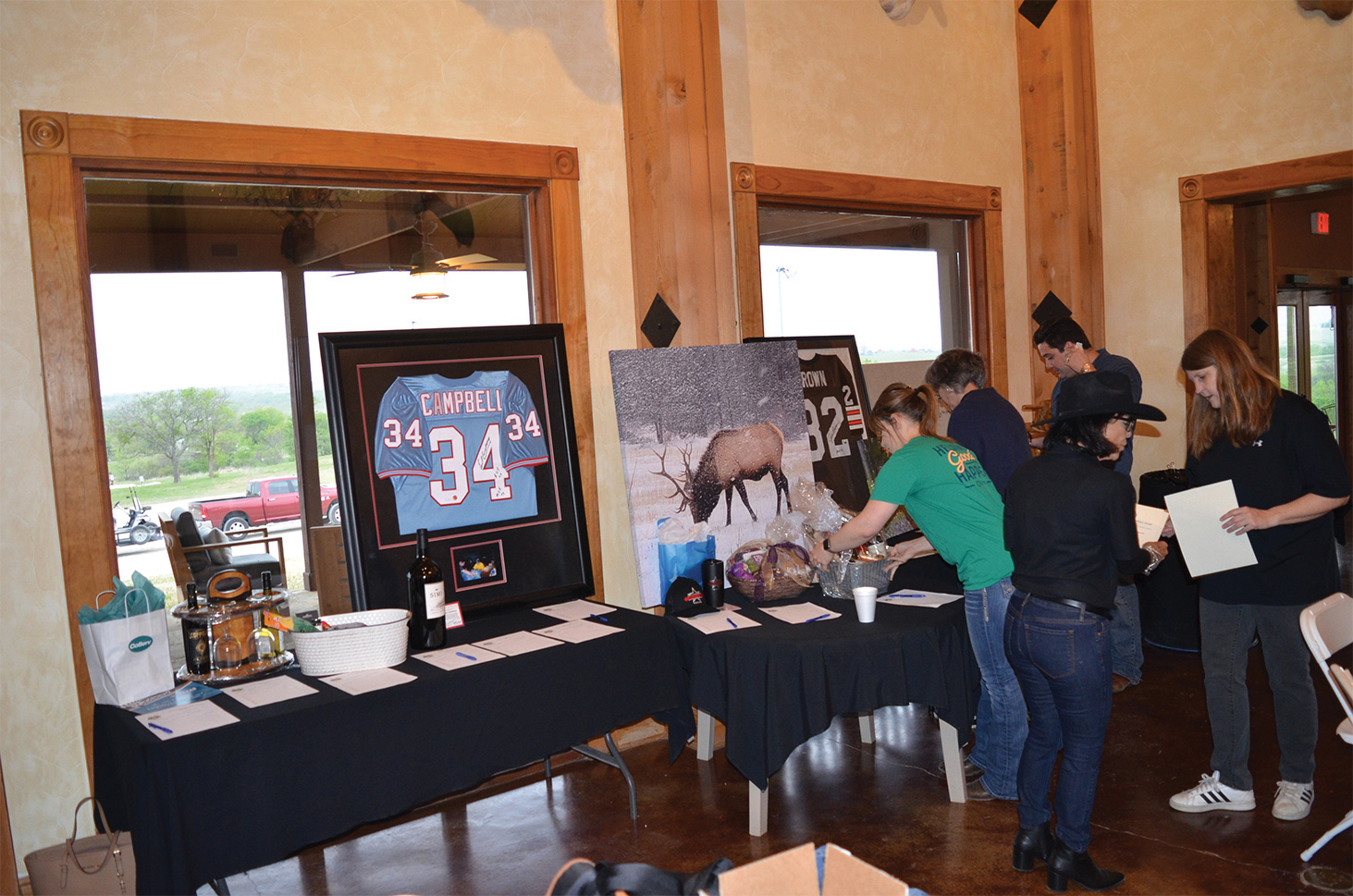 The Silent Auction displays for the event.