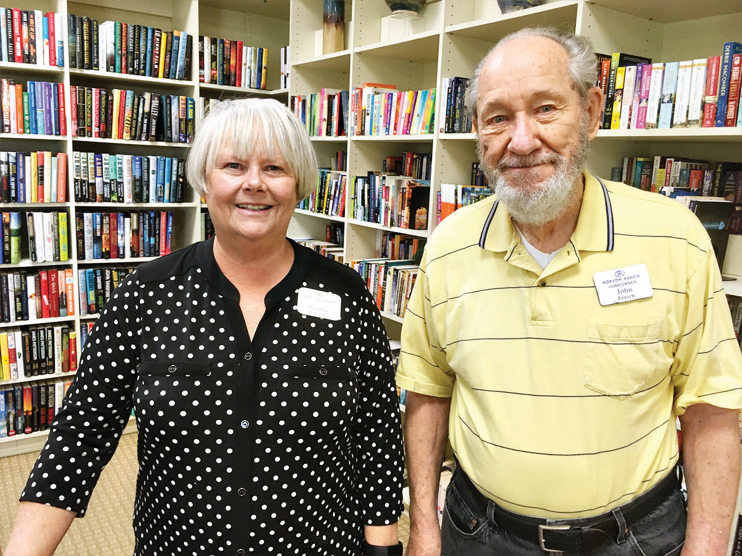 Gloria McKinney and John Fersch are among Tuesday's library workers.